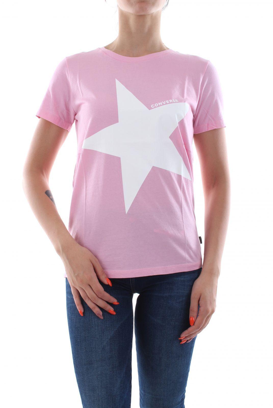 T SHIRT E CANOTTE Donna CONVERSE 10017504 CREW BIG STAR A06