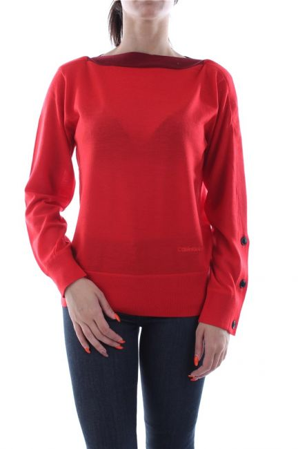MAGLIE E PULLOVER Donna TOMMY JEANS DW0DW07186 TIPPINH CABLE XA8 FLAME SCARLER